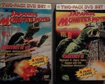 Japanese Monster Movies Vol.1 and 2 featuring Gamera