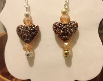 Brass Heart Beads 925 wire