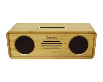 6-Watt Powerful Bluetooth Bamboo Hi-Fi Stereo Speaker System