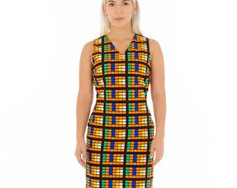 Tani Simple V-Neck Dress