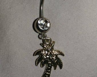 Palm Tree Belly Ring