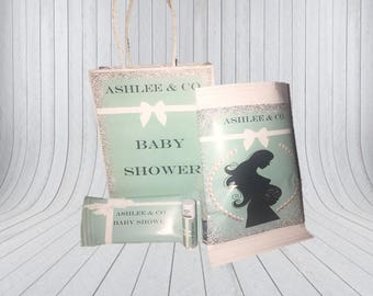 Tiffany & Co. Inspired Baby Shower Package - Baby shower- DIGITAL/Ship and  PRINT- Set of 8