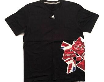 Adidas T Shirt vintage 90s Olympic England - sz L-XL