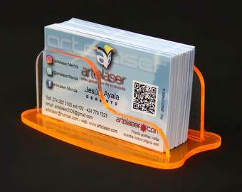 4 pcs-card, card holder, acrylic business card dispenser 2 colors