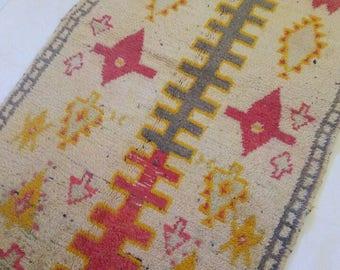 Beni ouarain rug; Moroccan  rug .190-110 cm