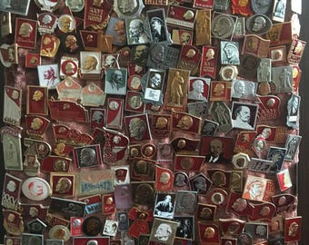 """Collection of badges (pins) of the USSR """"Lenin"""""""