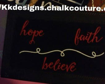 Hope - faith- believe