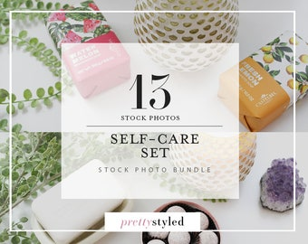 Styled Stock Photos / Self-Care Stock Photo Bundle / 13 PrettyStyled Lifestyle Images for Your Blog or Business