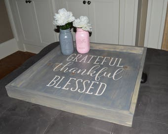 Personalized Handcrafted Rustic Ottoman Tray