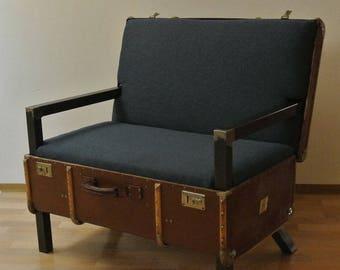 Case Chair Brown/Blue