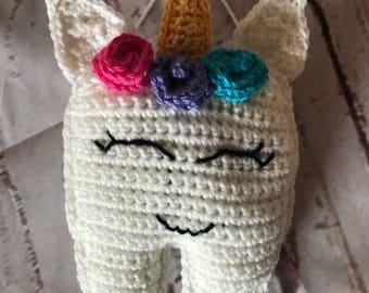 Unicorn tooth fairy pillow