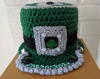 Irish Home Male Style Toilet Paper Tissue Roll Hat Cover Bathroom Decor St. Patrick's Day Shamrock O