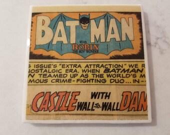 Batman Vintage Comic Book Ceramic Tile Coaster