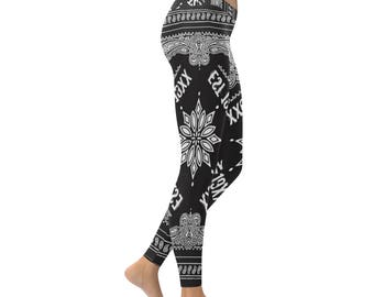 EST Bandana 19XX All Over Print Low Rise Leggings