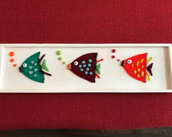 "Fused Glass ""3 Fish"""