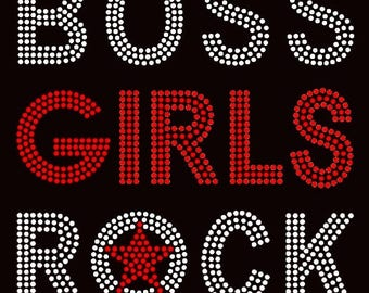 Boss Girls Rock - Rhinestones