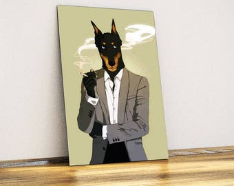 Doberman Metal Wall Art - Wall Decor - Home Decor