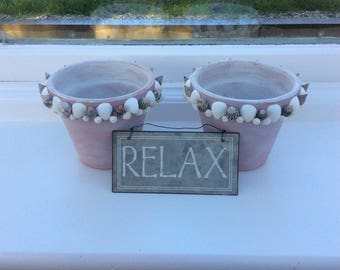 Shell Candle Pots