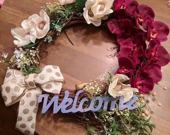 16 inch floral wreath