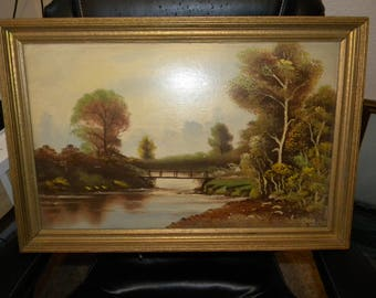 Walter C Norvell 24 1/2 X-16 1/2 Oil on canvas board painting