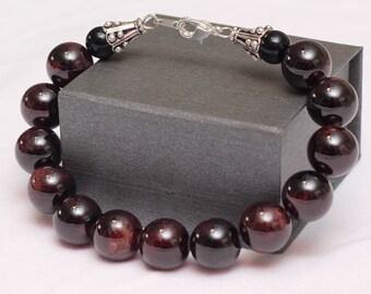 Dark Red Garnet Bracelet