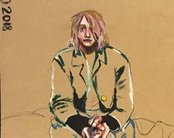 Kurt Cobain Positive/Negative Human Form Painting (16x20)