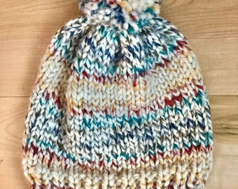 Chunky Knitted Ribbed Beanie