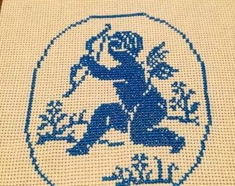 Blue Angel Cross Stitch