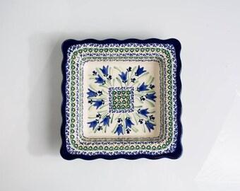 Polish Pottery Boleslawiec, Scalloped Dish