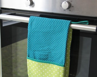 Double oven glove, Oven mitt
