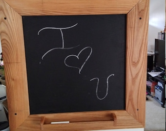 framed hanging chalk board