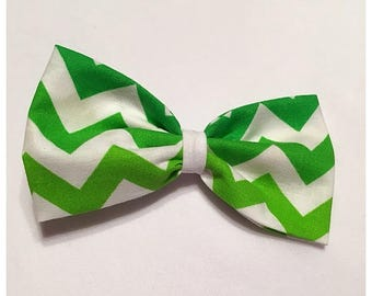 St. Patrick's Day Hairbow, Large Green Chevron Hairbow, Hairbow, Green Hairbow, Chevron Hairbow, Bows, Bowtie, SozBows