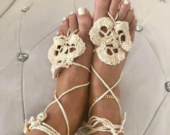 Thread handmade barefoot sandals