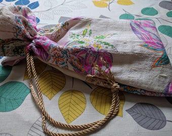 Raw Silk, Tarot Bag,  Drawstring Pouch, Bag of Holding