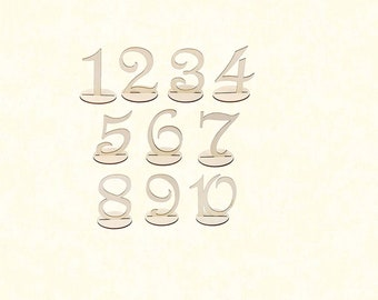 10 Psc / Set Wooden Table Numbers (1-10)