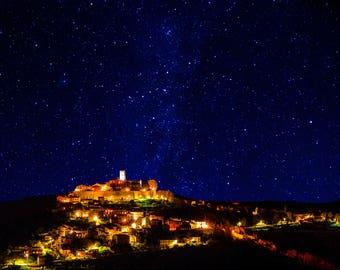 Sleepy Town Under the Stars