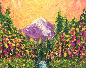 Mountain Stream Sunset