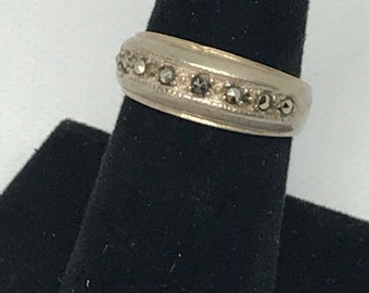 Vintage Sterling Silver 925 Marcasite Size 7.75 Ring
