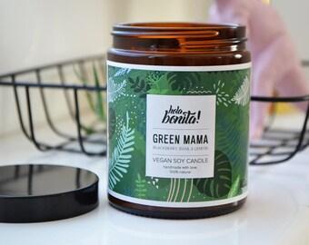 GREEN MAMA Natural Soy candle