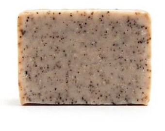 Exfoliating coffee goats milk soap
