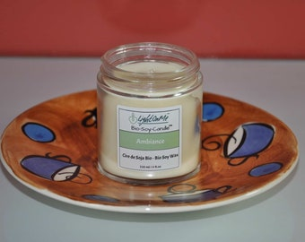 Bio-Soy-Candle™ scented to 'Ambiance', handmade