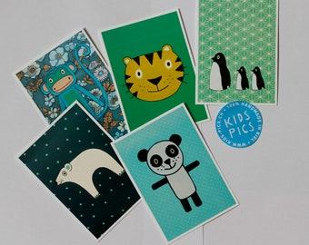"Postcardset ""Wild Animals"""