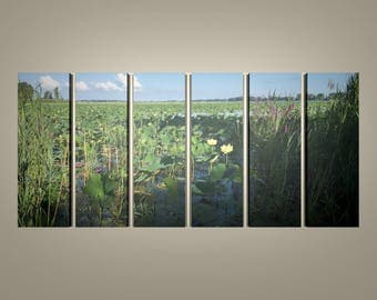 Lily Pads on the Bay Multi-panel Print