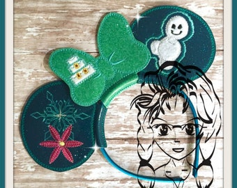ICe QUEEN PrinCESS SuMMER Character (3 Piece) Mr Ms Mouse Ears Headband ~ In the Hoop ~ Downloadable DiGiTaL Machine Emb Design by Carrie