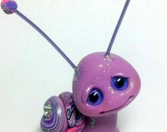 OOAK Sparkle Snail Grape Swirl girl Trollfling Troll by Amber Matthies