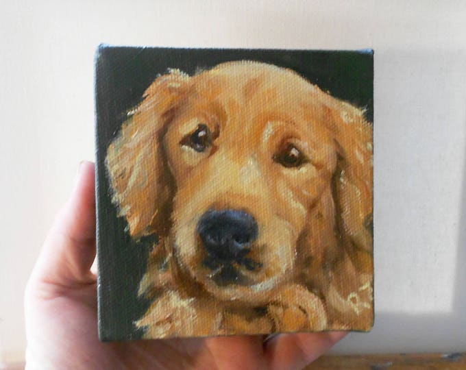 Custom Pet Portrait Oil Paintings, 4 x 4, Dog Portraits, Cat Portraits, Portraits from Photos, Portrait Painting, Cat Painting, Dog Painting