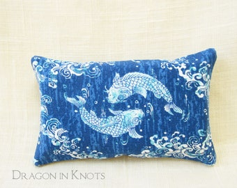 Fish Pond Travel Tissue Holder - Blue and White Pocket Tissue Cover, Facial Tissue Pack Pouch, Bubbles, Asian style, To go Accessory