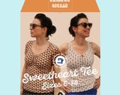 Studio dressme women – Pattern Set retro style sweetheart t-shirt – instant download includes US sizes 6-14/ EU sizes 36-44