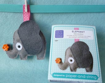 Elephant Mini Kit - Felt sewing kit