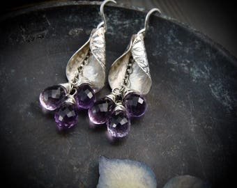 lavender ... amethyst earrings ...